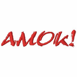 AMOK! EMBROIDERED POLO SHIRT