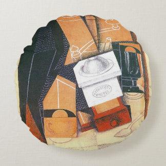 Amoladora de café de Juan Gris, arte del cubismo Cojín Redondo
