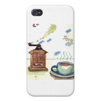 Amoladora de café de YE Olde - arte popular del ca iPhone 4 Carcasa