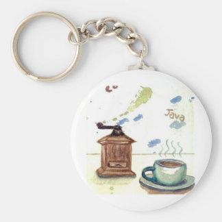 Amoladora de café de YE Olde - arte popular del ca Llavero Redondo Tipo Pin