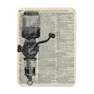 Amoladora de café del vintage imanes rectangulares