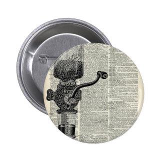 Amoladora de café del vintage pin redondo 5 cm