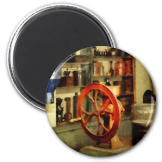 Amoladora de café y bote del azúcar imán redondo 5 cm