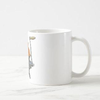 Amoladora del gato taza de café