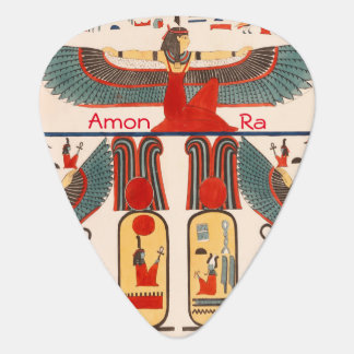 Amon Ra, Egyptian Pharaoh Hieroglyphics Guitar Pick