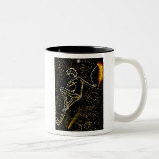 among fiery stars Two-Tone coffee mug