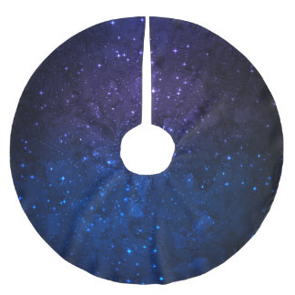 Among Stars in the Galaxy Brushed Polyester Tree Skirt