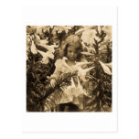 Among the Lillies - Vintage Stereoview Postcard