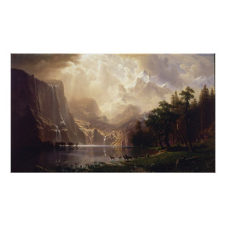 Among the Sierra Nevada Mountains, Bierstadt Poster
