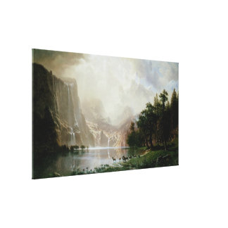 Among the Sierra Nevada Mountains by Bierstadt Canvas Print