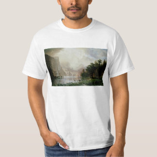 Among the Sierra Nevada Mountains by Bierstadt T-Shirt