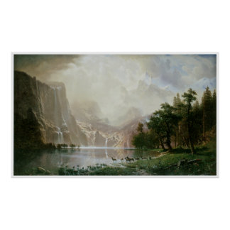 Among the Sierra Nevada Mountains, California Poster