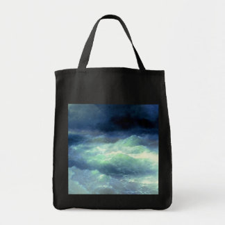 Among the Waves Tote Bags