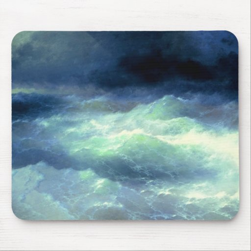 Among the Waves Mouse Pad
