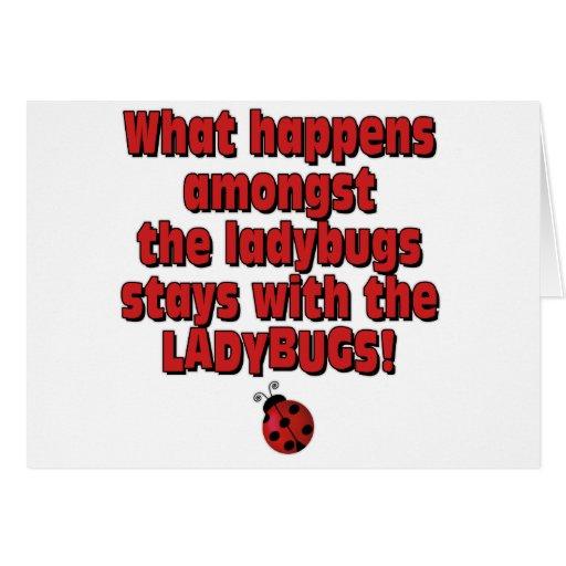 Amongst the ladybugs card