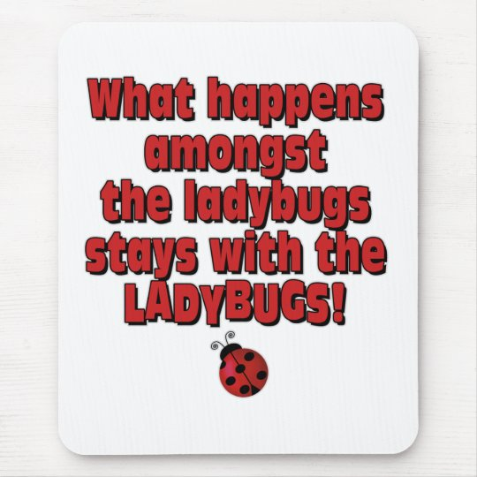Amongst the ladybugs mouse pad