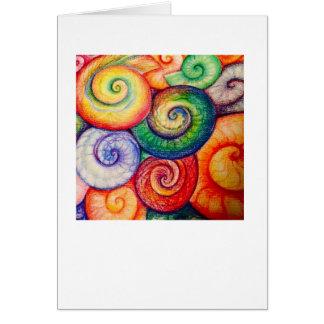 Amonitas en colores brillantes tarjeta de felicitación