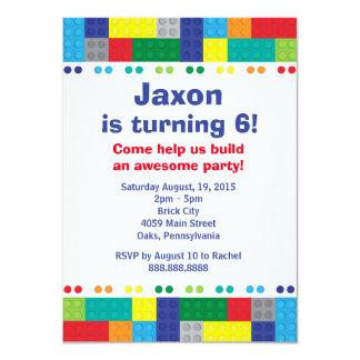 """Amontonamiento de la fiesta del cumpleaños del invitación 4.5"""" x 6.25"""""""