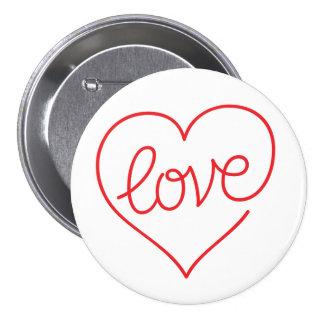 AMOR (03) grande, botón redondo de 3 pulgadas Pin Redondo De 3 Pulgadas