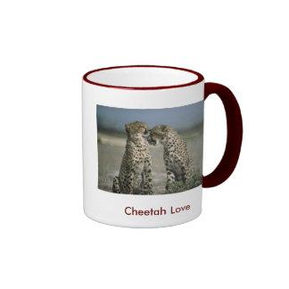 Amor 15oz del guepardo. Taza del campanero