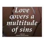Amor 1 Peter 4-8 condensado Postales
