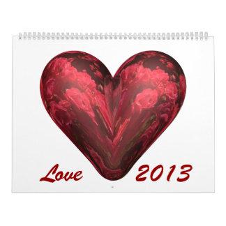 Amor 2013 calendario de pared