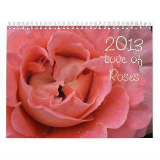 amor 2013 del calendario de la fotografía en color