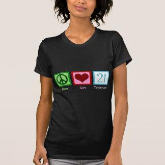 Amor 21 de la paz camisas