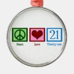 Amor 21 de la paz ornamentos de reyes