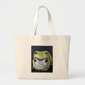 Amor 2 de la rana bolsa lienzo