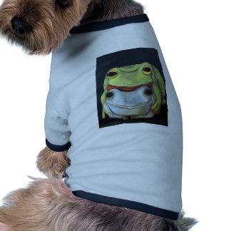 Amor 2 de la rana camiseta de perro