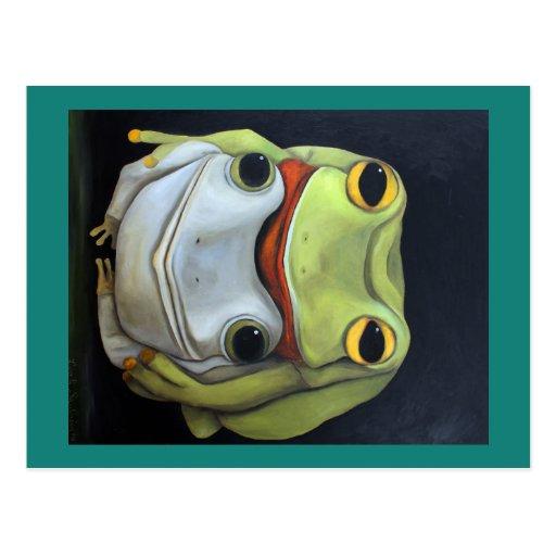 Amor 2 de la rana tarjeta postal