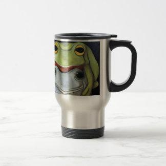 Amor 2 de la rana taza de viaje de acero inoxidable