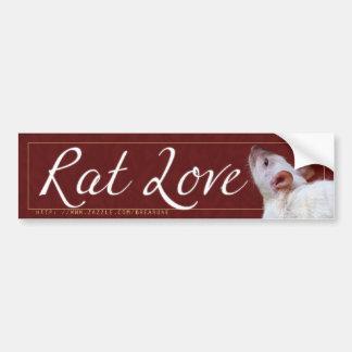 Amor 2 de la rata pegatina para auto
