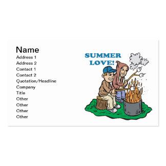 Amor 2 del verano tarjetas de visita