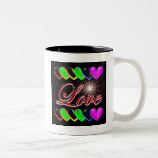 Amor 2 taza de dos tonos