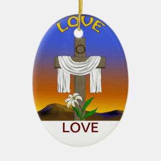 Amor, 3:16 de Juan Adorno Navideño Ovalado De Cerámica