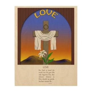 Amor, 3:16 de Juan Impresión En Madera