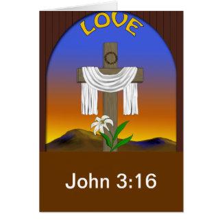 Amor, 3:16 de Juan Tarjeta De Felicitación