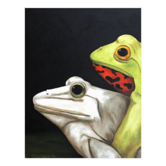 Amor 3 de la rana membrete