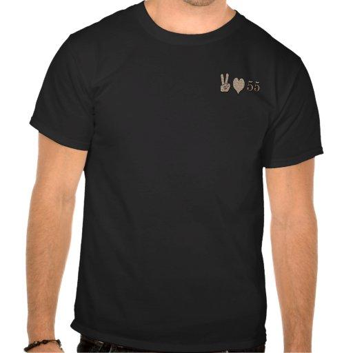 Amor 55 de la paz camisetas