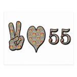 Amor 55 de la paz postales