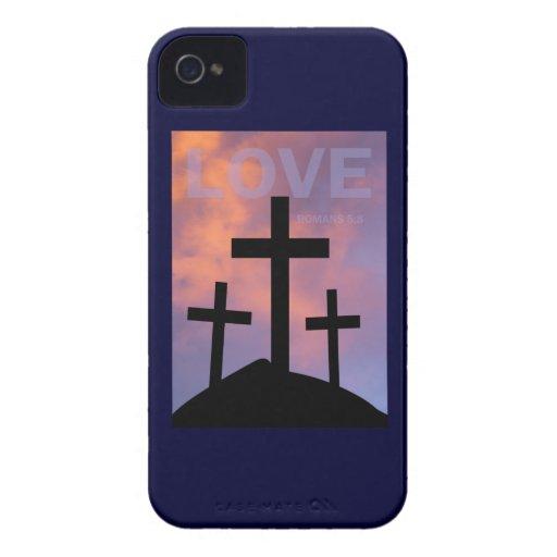 AMOR - 5:8 de los romanos Case-Mate iPhone 4 Protector