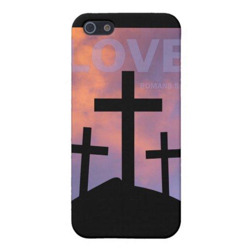 AMOR - 5:8 de los romanos iPhone 5 Carcasa