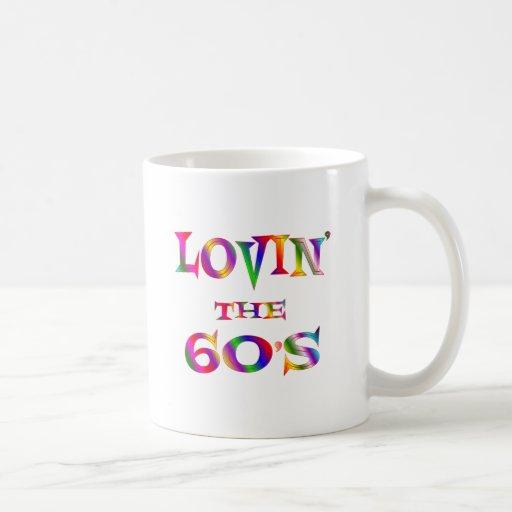 Amor 60s tazas de café