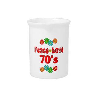 Amor 70s de la paz jarra
