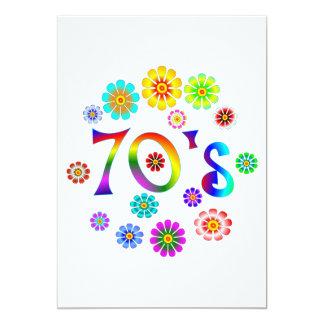 """amor 70s invitación 5"""" x 7"""""""