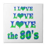 Amor 80s del amor azulejo cerámica