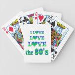 Amor 80s del amor baraja cartas de poker
