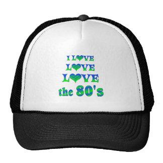 Amor 80s del amor gorros bordados